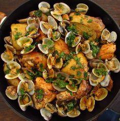 Frango frito com amêijoas | Food From Portugal