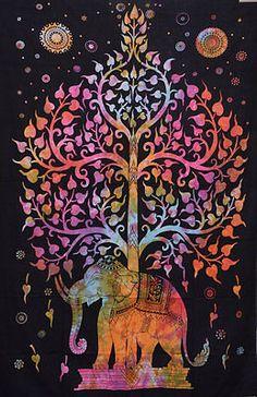 NEW-TREE-OF-LIFE-HOME-DECOR-ART-MULTI-ELEPHANT-MANDALA-HIPPIE-BOHO-TAPESTRY