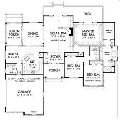 Craftsman Floor Plan - Main Floor Plan Plan #929-426