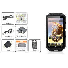 New Arrival Iman I3 IP68 Waterproof Dustproof Shockproof Outdoor Android Smart Phone MTK6589T Quad Core 1GB RAM 16GB ROM 13MP  $465.99 Waterproof Phone, Quad, Mobile Phones, Core, Smartphone, Android, The Originals, Cool Stuff, Mini