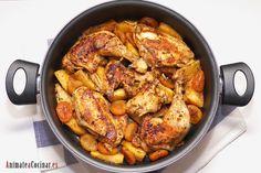 Pollo asado en cazuela - Anímate a Cocinar