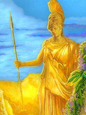 Athena -god~ Odysseus's friend that helps him through his journey