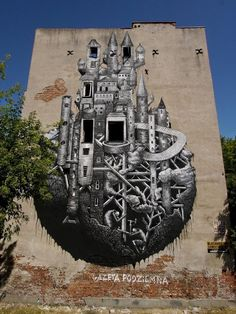 Invited by the Street Art Doping Festival in Poland, Phlegm
