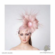 Arturo Rios Collection Faith Fascinator Hat by Arturo Rios Blush Pink  Fascinator e037b521a0f