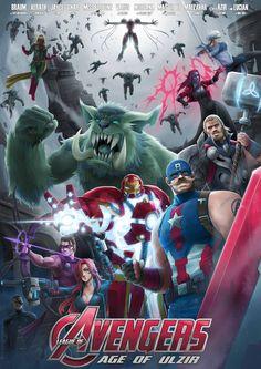 -Braum as Captain America -Xerath as Ironman -Jayce as Thor -Varus as Hawkeye -Miss fortune as Blackwidow -Gnar as Hulk -Morgana as Scarlet Witch -Master Yi as Quicksilver -Malzahar as Vision -Azir...