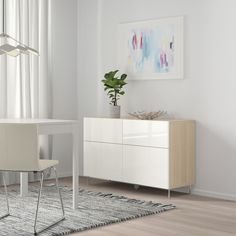 IKEA BESTA Walnut Effect Light Gray, Selsviken/sularp High-Gloss/white Storage combination w doors/drawers Soft Closing Hinges, Frame Shelf, Plastic Foil, Ikea Family, Drawer Runners, Knobs And Handles, Drawer Fronts, Interior Accessories, Adjustable Shelving