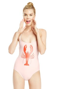 de0f8a8bb54e7 DailyLook: Wildfox Couture Lobster Shipwrecked One Piece in Pink.  westcoastclothingco.com · Women's One-Piece Swimsuits