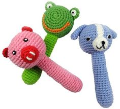 Soft rattles are great for a little baby who doesn't have a lot of motion control
