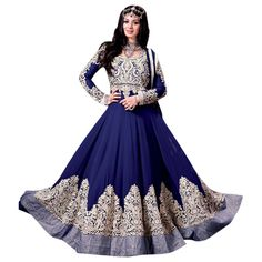 Blue Faux Georgette