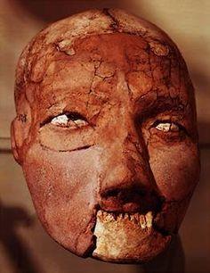 Neolithic plastered skull, from Jericho, c. 7000 B.C.