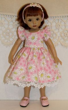"""~*~First Day of Spring~Pink Daisy Delight~fits 13"""" Effner Little Darling~"""