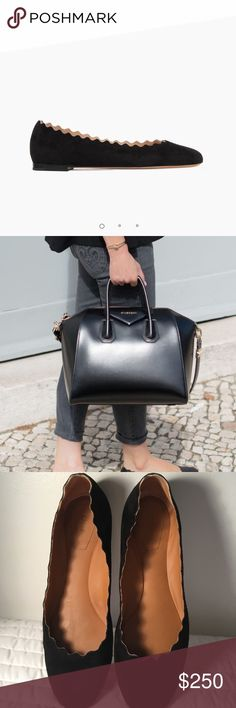 Chloe Chloe black sue like new comes with a dust bag Chloe Shoes Flats & Loafers