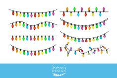 Christmas Lights Clipart by SavanasDesign on @creativemarket