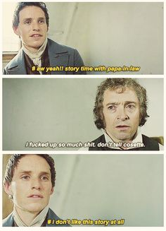 basically what they were actually thinking. {gif} xD #lesmiserables