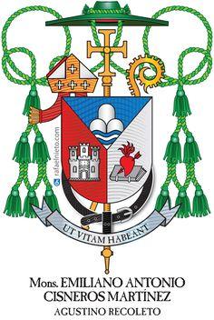 Escudo obispo Emiliano Cisneros. Coats of arms bishop.0 Ecclesiastical heraldry