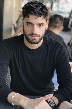 Gay Male Models, Boy Models, Beard Boy, Sexy Beard, Beautiful Men Faces, Gorgeous Men, Curly Hair Men, Men's Hair, Smart Men
