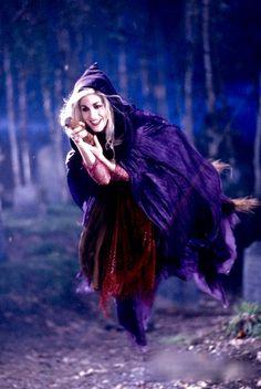 Sarah Sanderson in flight from Hocus Pocus #hocuspocus #hocus pocus 2 #hocus…
