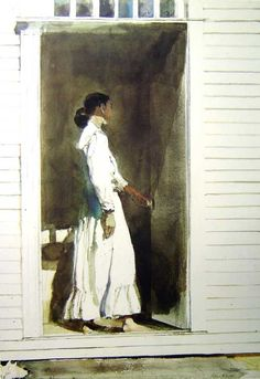 Lady of the House - Andrew Wyeth Watercolourist
