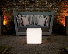 #LED #cube #outdoor with glasstop serves as a desk.|| #LED Würfel für draußen mit glasplatte dient als tisch.|| #LED #cube  extérieur avec glasstop est un table. #moree