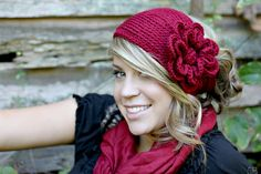 HeadWrap, Headband, Ear Warmer - Cranberry Crocheted Accessory. $14.99, via Etsy. I LOVE THIS!