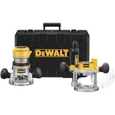 DEWALT DW618PK 12-AMP 2-1/4 HP Plunge and Fixed-Base Variable-Speed Router Kit - Sale Price: $209.00