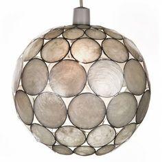 Pearl White Capiz Globe Pendant £10.39