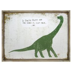 If You're Happy Dinosaur Framed Art - Pillowfort™