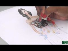 Dessin de mode robe ELIE SAAB - YouTube
