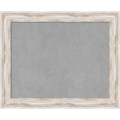 Framed Magnetic Board Choose Your Custom Size, Alexandria White Wash Wood (29 x 29-inch), Grey