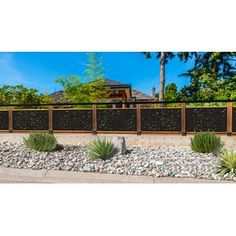 Zippity Outdoor Products 4 ft. H x 3 ft. W Huntersville Privacy Screen   Wayfair Decorative Fence Panels, Decks And Porches, Patio Decks, Backyard Fences, Patio Fence, Driveway Gate, Decking, Backyard Landscaping, Graffiti