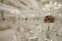 Glam white wedding