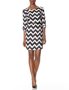Belted Chevron Dress from THELIMITED.com #TheLimited #OnlineExclusive