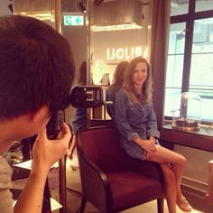 On set in the boutique with #MANIFESTO Magazine. Looking forward to seeing the story out soon! #MarielleByworth #PMQ