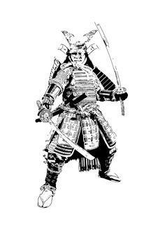 Artist: Baarts Image: A samurai painted in a pop art style, using shadow to create the image