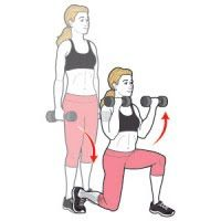 Dumbbell Squat to Overhead Press | Women's Health Magazine