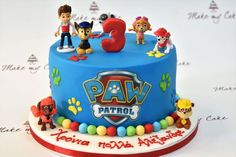 Paw Patrol Pinata, Torta Paw Patrol, Paw Patrol Cake Toppers, Boys 1st Birthday Cake, Paw Patrol Birthday Cake, Birthday Cupcakes, Pastel Paw Patrol, Paw Patrol Decorations, Cakes For Boys