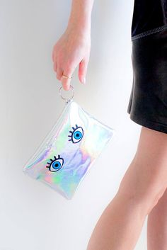 Repeat after us: holographic leather clutch Bff Gifts, Gifts For Coworkers, Gifts For Teens, Best Friend Gifts, Gifts For Wife, Girl Gifts, Gifts For Friends, Christmas Gifts For Husband, Friendship Gifts