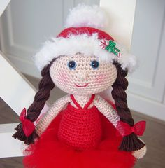 Christmas fairy crochet pattern designed by Dutch Doll Design