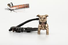 The first Vakkancs Staffordshire Bullterrier were made in 2011. The Creator is Katalin Kurta jeweller, teh technical leader, and one of the founder owners of the Ékszergyár Kft. (Jewelry Factory Ltd.).  All Vakkancs products are made in Hungary, they are handmade, and they have to pass a painstaking quality control before sale.  Material: solid bronze Size: cc 3 cm x 2,5 cm Weight: cc 18,5 gramm  * Certificate, signed by the artist * Numbered product