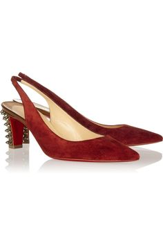 Christian Louboutin Lemer 70 studded mirrored-leather and suede [CL2013] - $204.25 : Discounted Christian Louboutin,Jimmy Choo,Valentino Shoes Online store