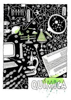 Ilustrador Alexiev Gandman: Carátulas para Quimica