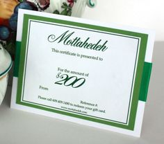 $200 to spend on ANYTHING on the Mottahedeh website!