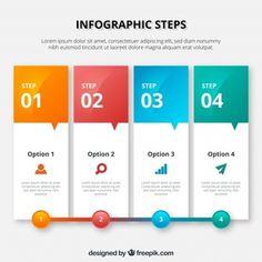 Красочный инфографический шаблон в стиле баннера