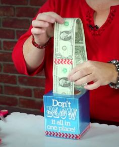 Seriously great teen gift idea. Could prove expensive when our smallest (Australian) note is $5