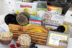 Site has Great gift basket ideas  - Love this muffin basket