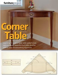 Corner Table Plans - Furniture Plans and Projects | WoodArchivist.com