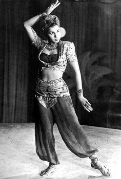 vintage 1940's Samia Gamal
