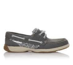 Women's SPERRY Intrepid Sequin Graphite/Floral | Shoe Carnival