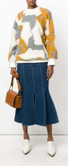 CHLOÉ Graphic face intarsia sweater, explore new season Chloé on Farfetch now.