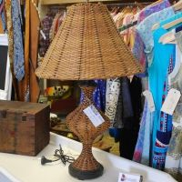 Rattan Beach House Lamp - Woollongabba Antique Centre, Brisbane, Australia